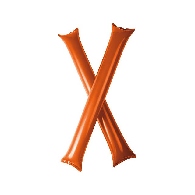 Cheer 2 aufblasbare Klatsch-Stangen - Orange