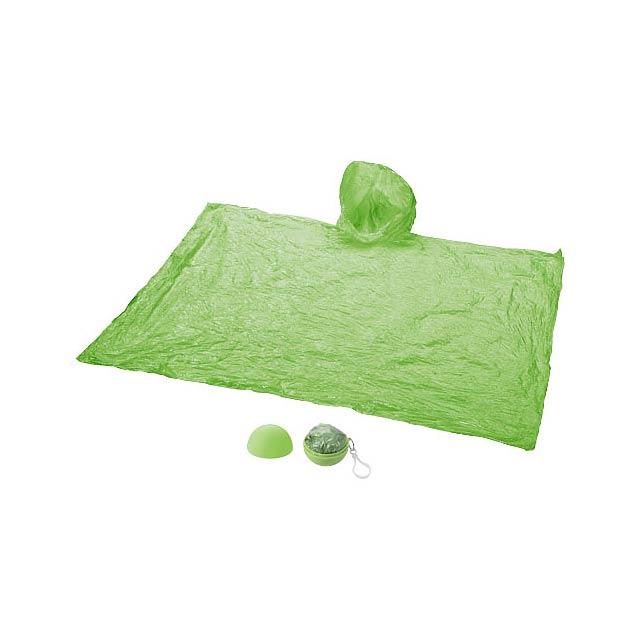Pláštěnka Xina v úložném míči s klíčenkou - zelená