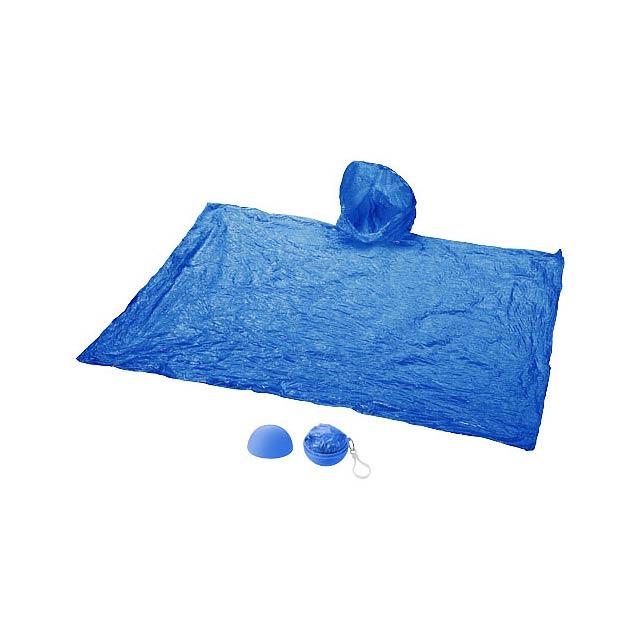 Pláštěnka Xina v úložném míči s klíčenkou - modrá