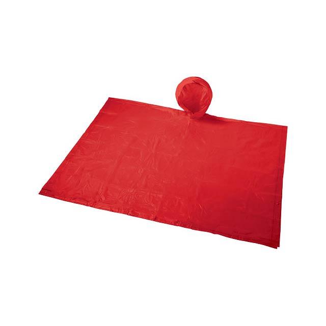 Skládací pláštěnka v sáčku Paulus - transparentní červená