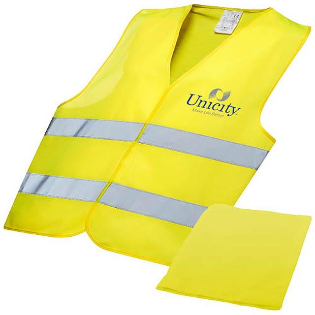 Watch-out bezpečnostní vesta ve vaku pro profesionální použi - žlutá