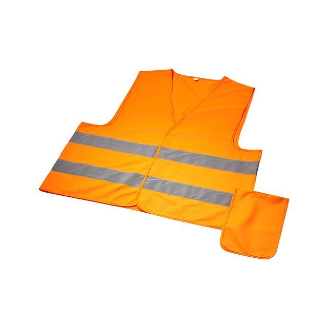 Watch-out bezpečnostní vesta ve vaku pro profesionální použi - oranžová