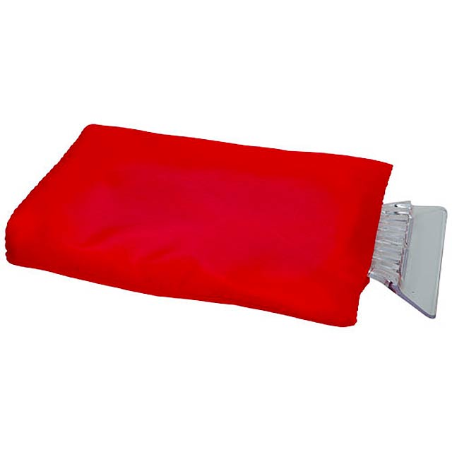 Škrabka na led Colt s rukavicí - červená
