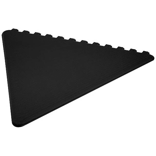 Frosty triangular ice scraper - black