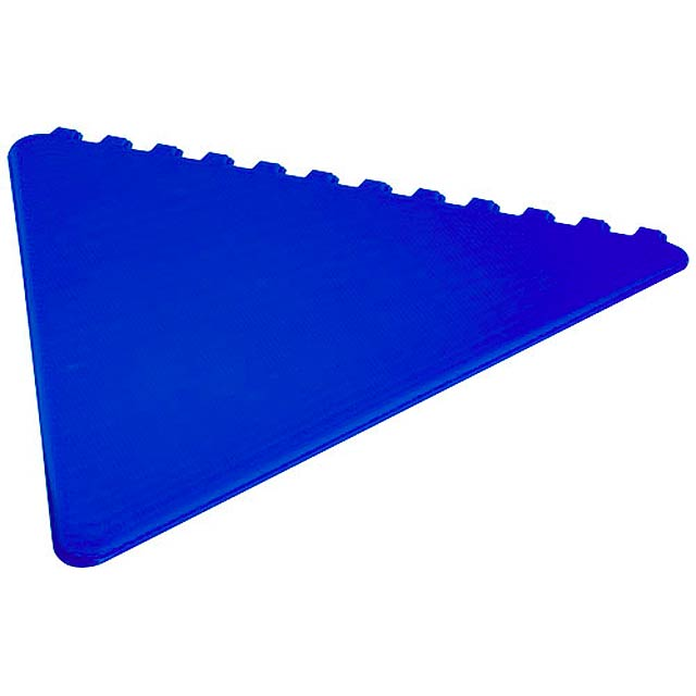 Frosty triangular ice scraper - royal blue