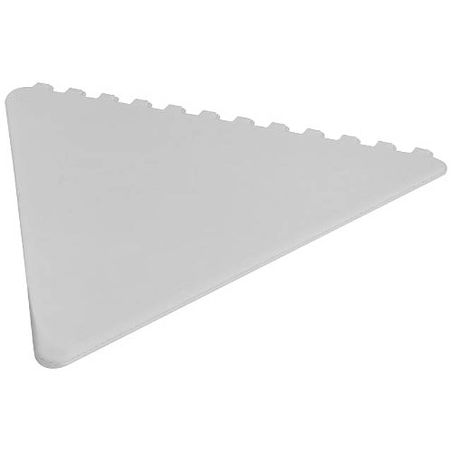 Frosty triangular ice scraper - white