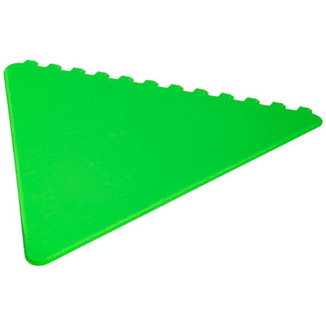 Frosty triangular ice scraper - lime