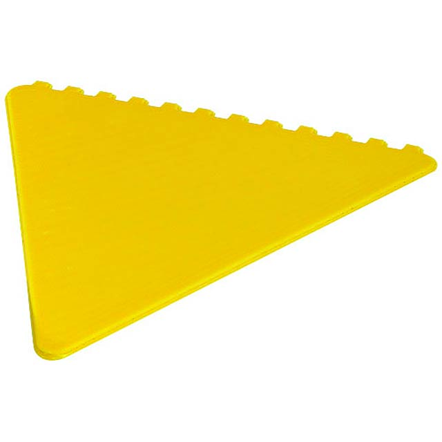 Frosty triangular ice scraper - yellow