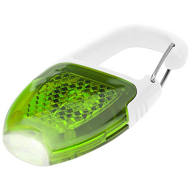 Reflect-or LED keychain light with carabiner - white