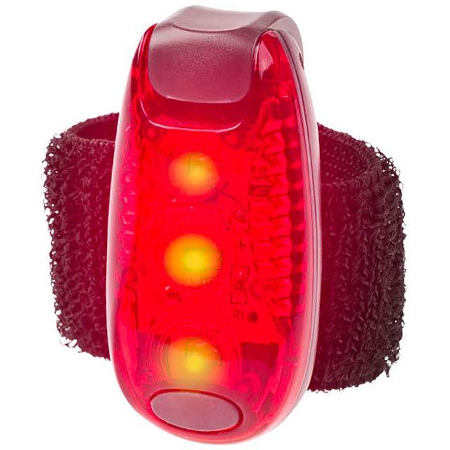 Červený reflektor Rideo - červená