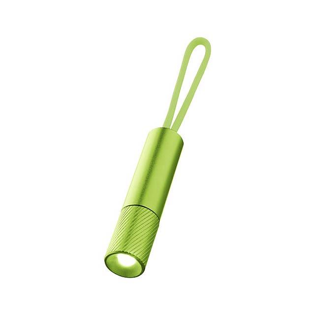 Merga LED světlo na klíče se svítícím popruhem - citrónová - limetková
