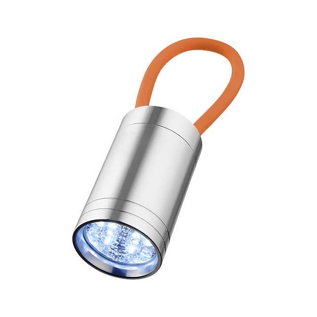 Svítilna Vela se 6 LED a svítícím popruhem - oranžová