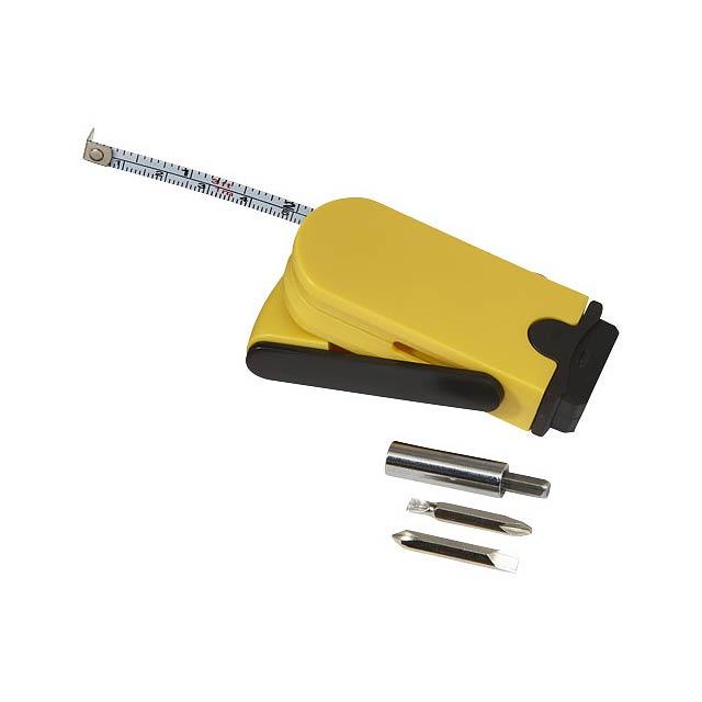 Multifunkční šroubovák a měřicí pásmo Bram - žlutá