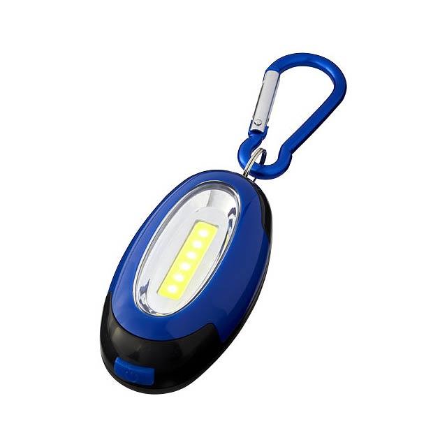 COB svítilna Atria s karabinou - modrá