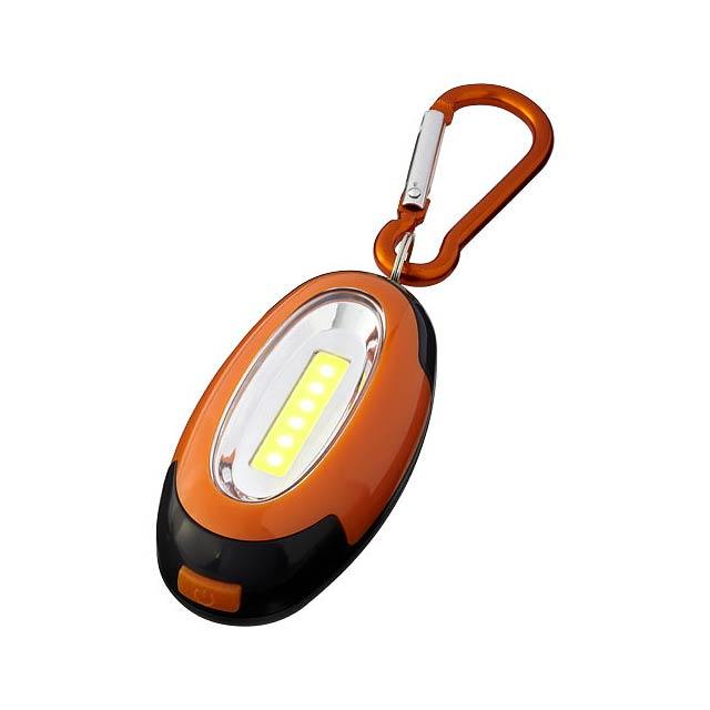 COB svítilna Atria s karabinou - oranžová