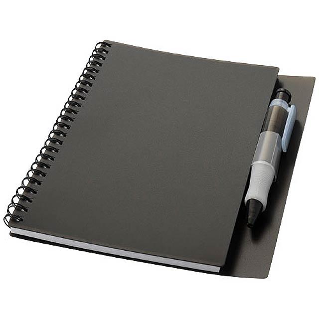 Zápisník Hyatt s perem - šedá