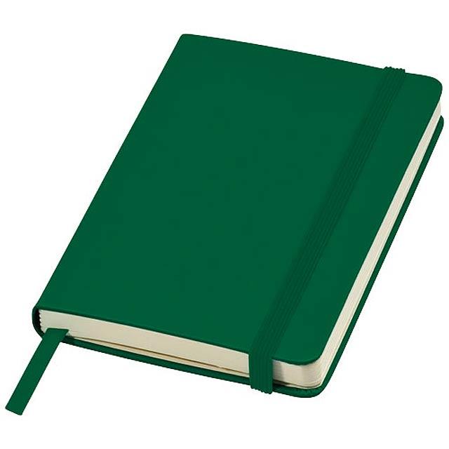 Kapesní poznámkový blok Classic A6 s pevnou obálkou - zelená