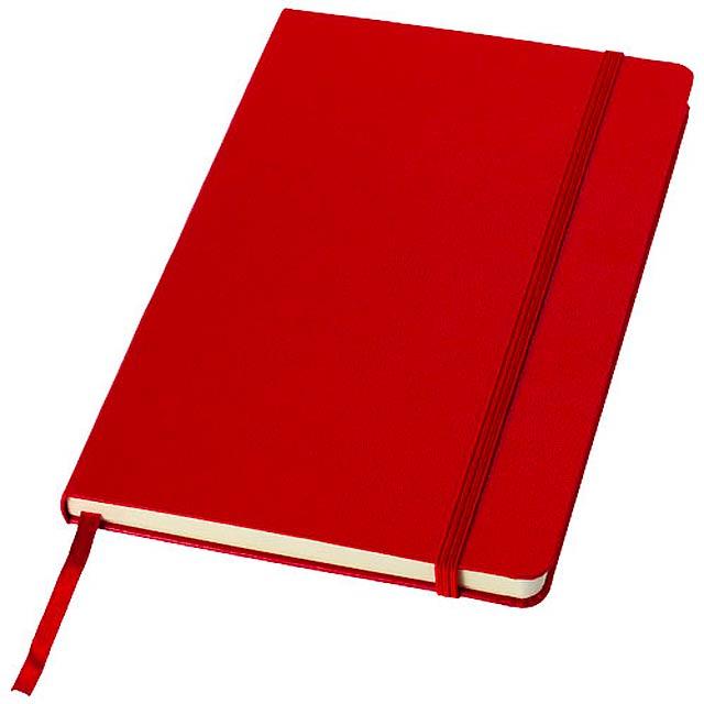 Poznámkový blok Classic A5 s pevnou obálkou - červená