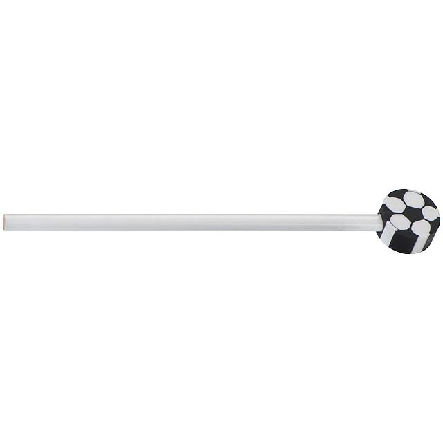 Tužka s různými motivy - bílá