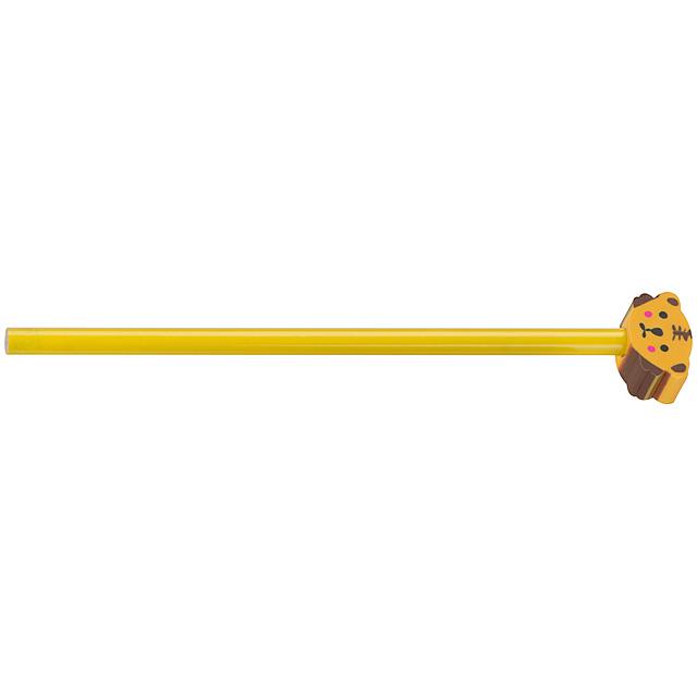 Tužka s různými motivy - žlutá