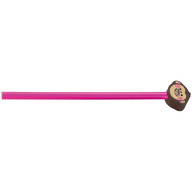 Tužka s různými motivy - růžová