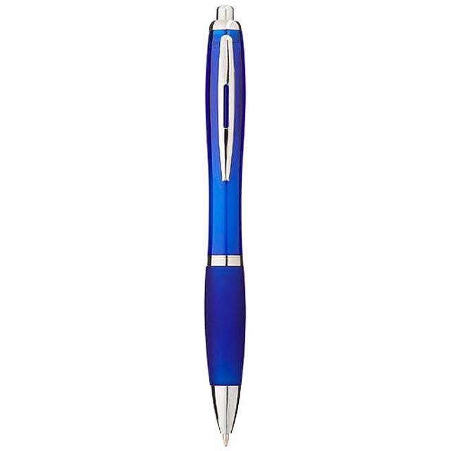 Barevné kuličkové pero Nash s barevným úchopem - modrá
