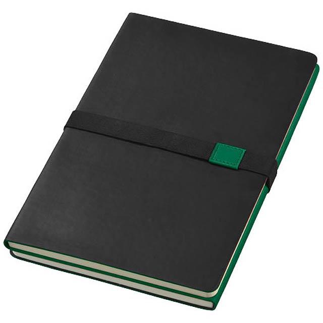 Zápisník s měkkou obálkou A5 Doppio - zelená