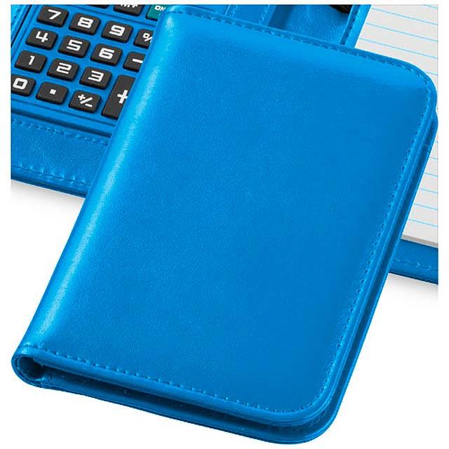 Zápisník s kalkulačkou Smarti - nebesky modrá