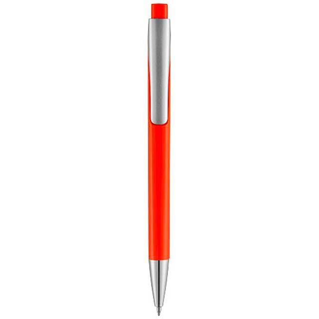 Kuličkové pero s čtvercovým tělem Pavo - oranžová