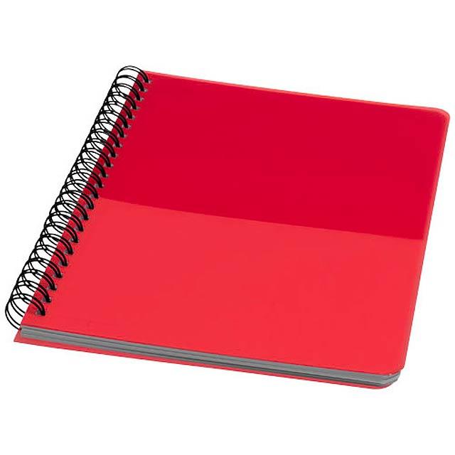 Barevný kroužkový zápisník A5 - červená