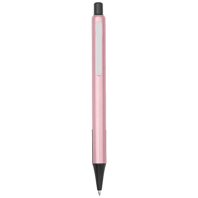 Kuličkové pero Milas s pryžovými úchopy - růžová