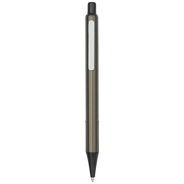 Kuličkové pero Milas s pryžovými úchopy - petrolejová