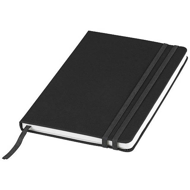 Barevný zápisník s pevnou obálkou A5 Denim - černá