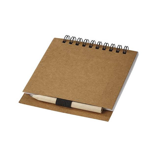 Dvoudílná sada na skicování se skicákovým papírem Vande - béžová