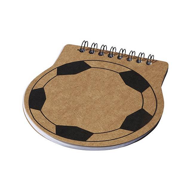 Fotbalově tvarovaný zápisník Score - béžová