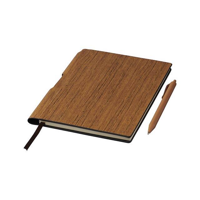 Zápisník s pevnými deskami A5 Bardi - hnědá