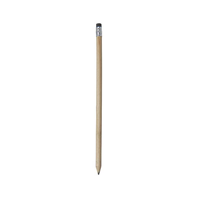 Cay wooden pencil with eraser - beige