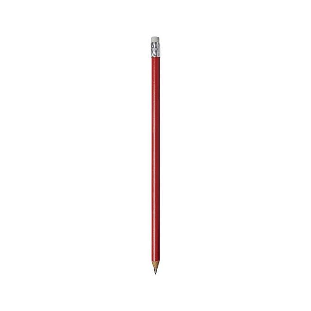 Tužka Alegra s barevným tělem - transparentná červená