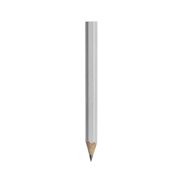 Cosimo Mini Bleistift mit farbigem Schaft - Weiß