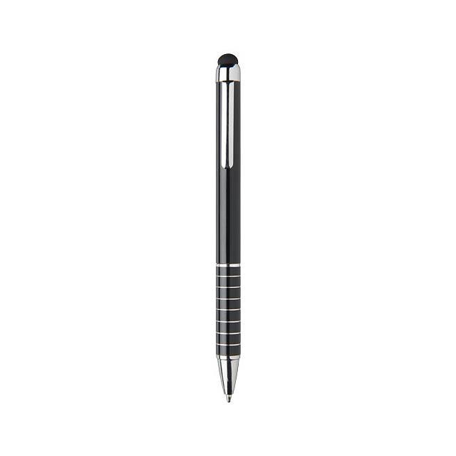 Hliníkové kuličkové pero Glaze - černá