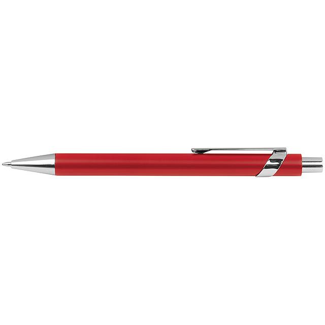 Kovové kuličkové pero - červená