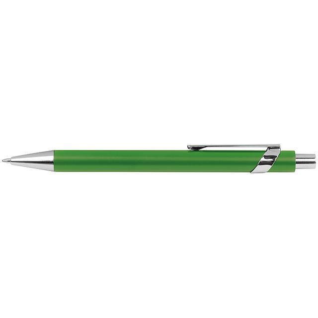 Kovové kuličkové pero - zelená