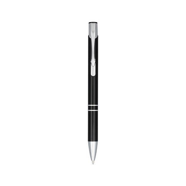 Anodizované kuličkové pero Moneta - černá