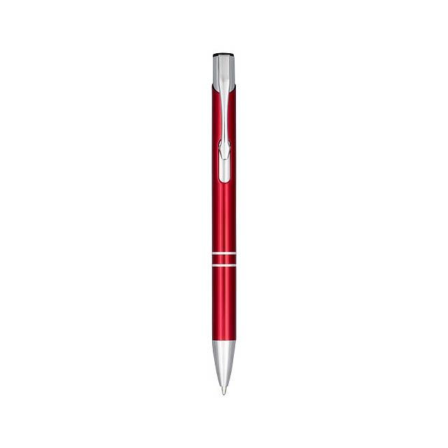 Anodizované kuličkové pero Moneta - transparentní červená
