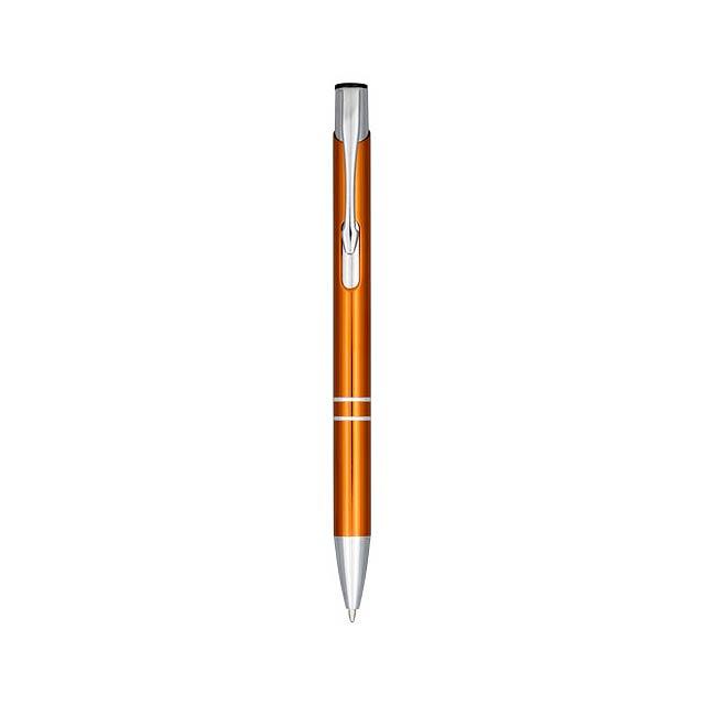 Anodizované kuličkové pero Moneta - oranžová