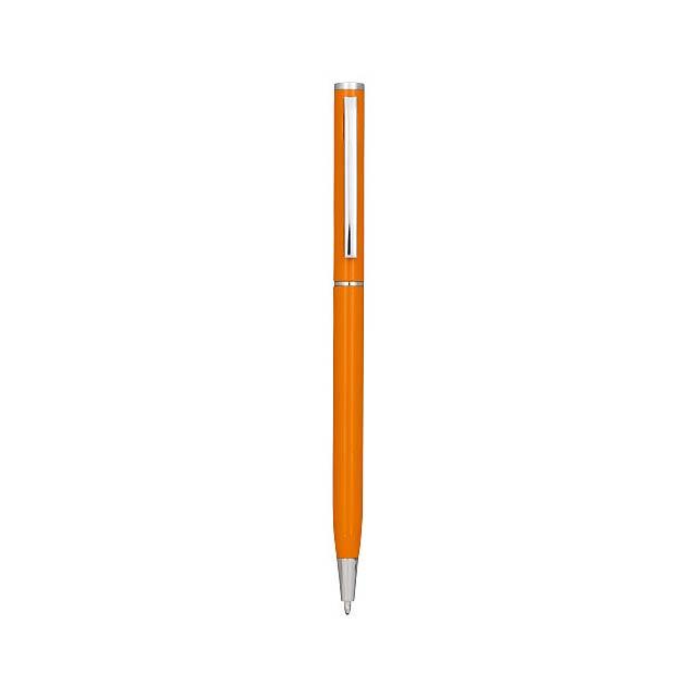 Hliníkové kuličkové pero Slim - oranžová