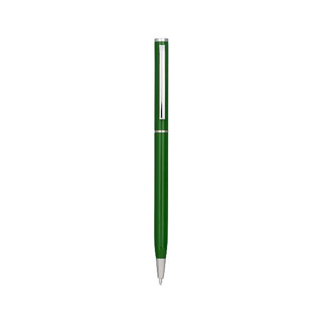 Hliníkové kuličkové pero Slim - zelená