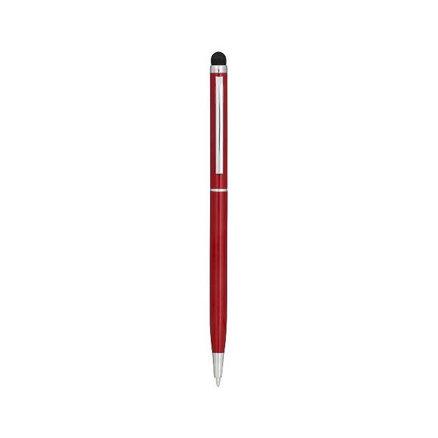 Hliníkové kuličkové pero Joyce - transparentní červená