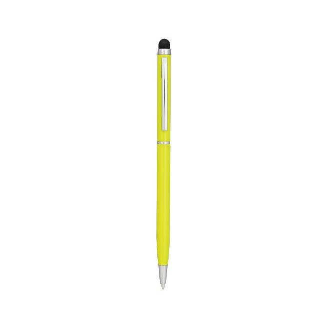 Hliníkové kuličkové pero Joyce - citrónová - limetková