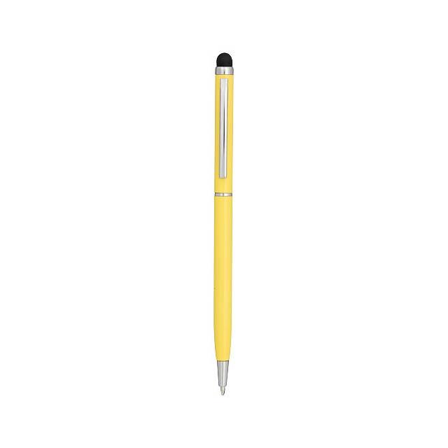 Hliníkové kuličkové pero Joyce - žlutá